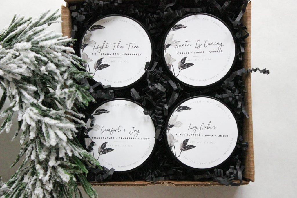 Winter Sampler Candles for Mom