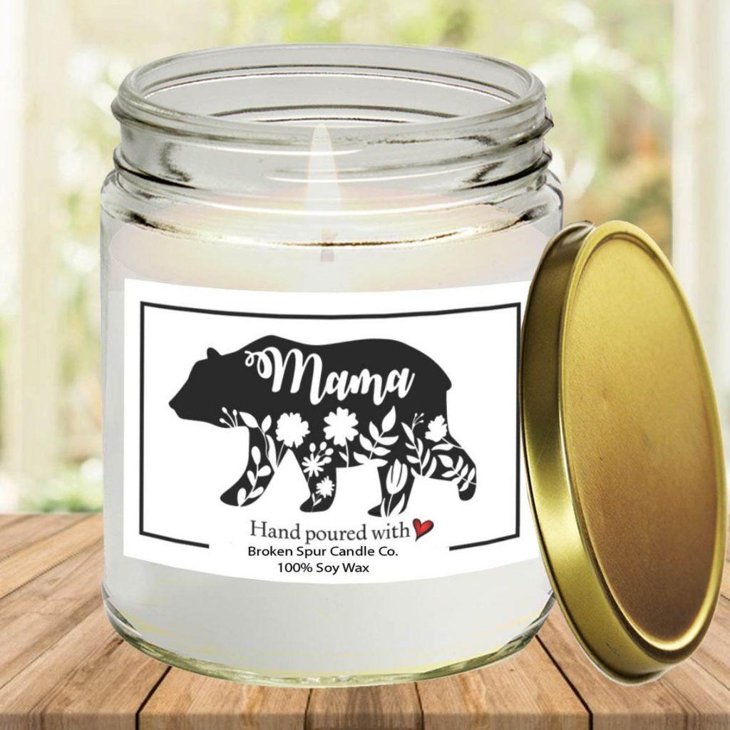 Mama Bear Candle