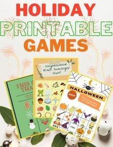 Holiday Printable Games