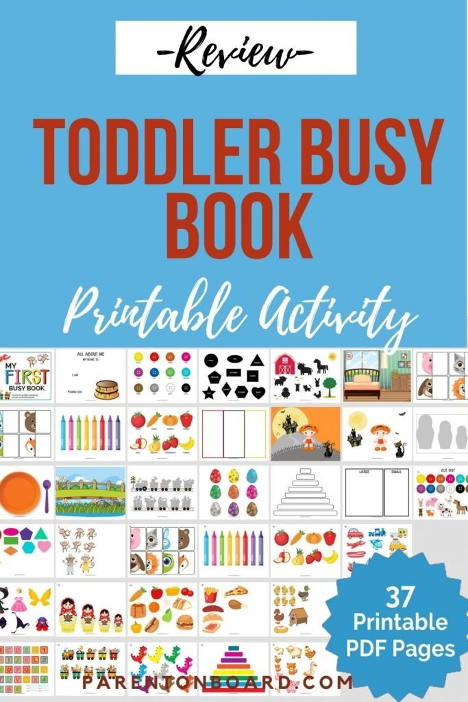 Busy Book Printables for Toddlers
