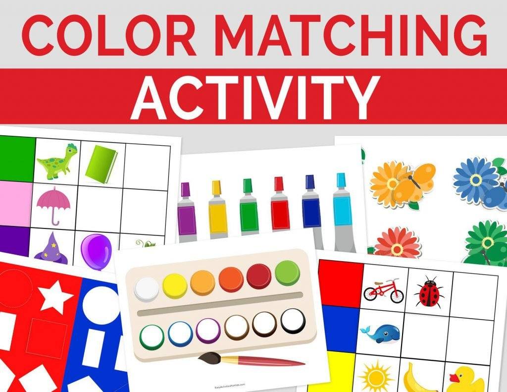 Color Matching Activity Printable for Toddlers
