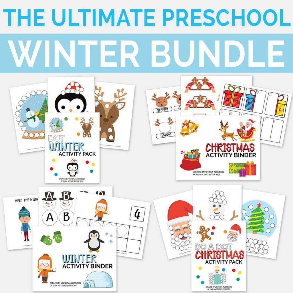 Ultimate Preschool Bundle Printable Activity