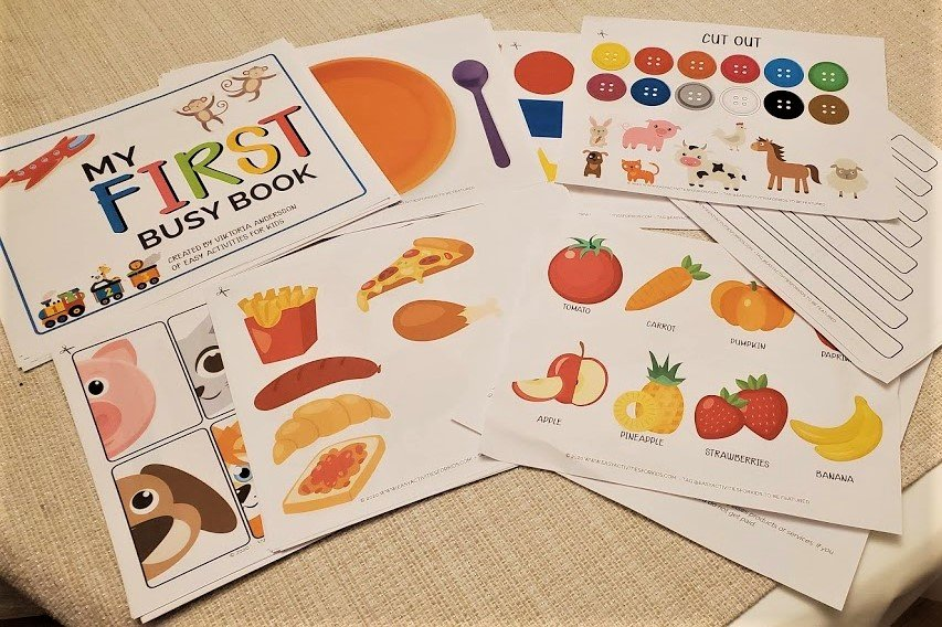 Toddler Busy Book Bundle Printable Activity