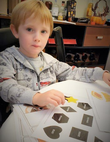 Toddler Printable Activity Shape Matching