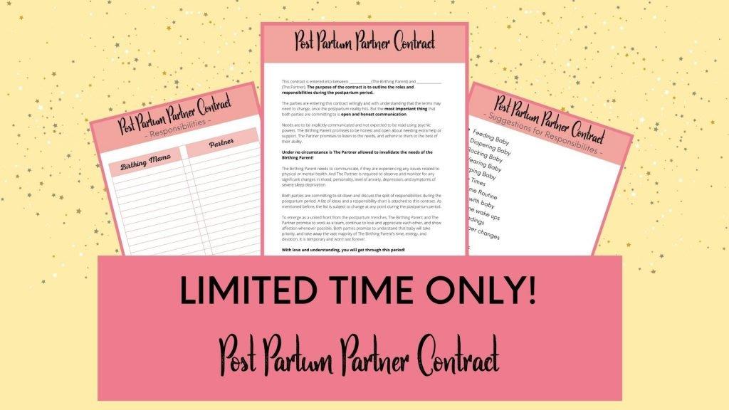 Post Partum Contract