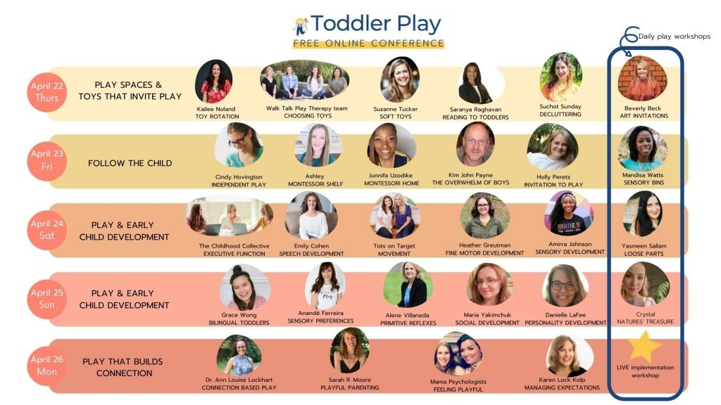 Speaker Lineup For Toddler Play Conference