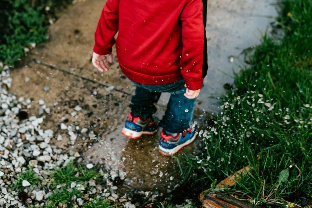Water Play In The Rain
